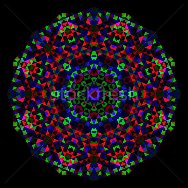 Abstract bloem creatieve kleurrijk stijl vector Stockfoto © ESSL