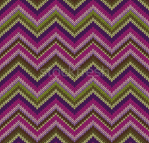 Stock photo: Style Seamless Knitted Pattern