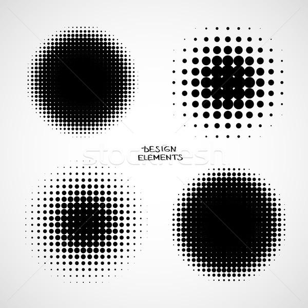 抽象的な ハーフトーン 背景 ベクトル セット 孤立した ストックフォト © ESSL