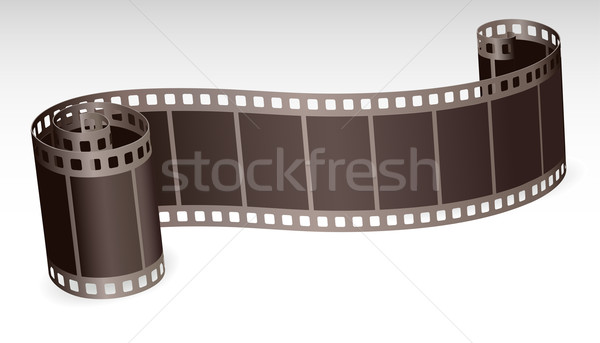 twisted film strip roll for photo or video on white background v Stock photo © ESSL