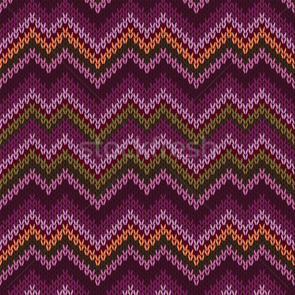 Tricoté modèle style mode couleur Photo stock © ESSL