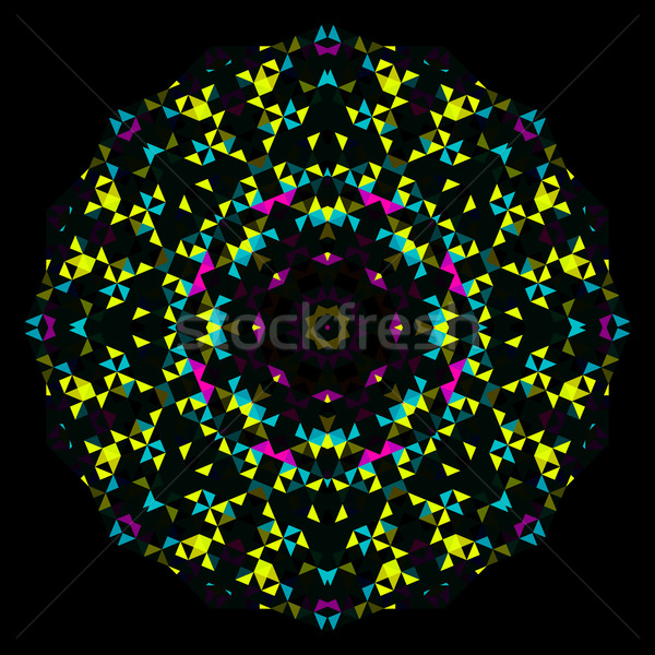 аннотация геометрический ярко калейдоскоп шаблон цветок Сток-фото © ESSL