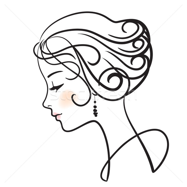 Женские лица в профиль рисунки
