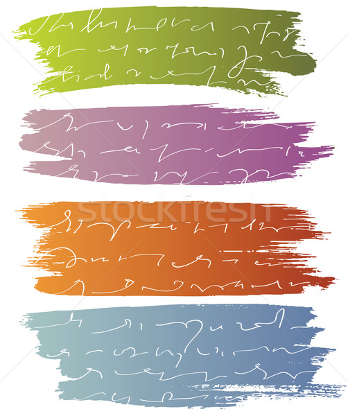 Vector blures with text Stock photo © ESSL