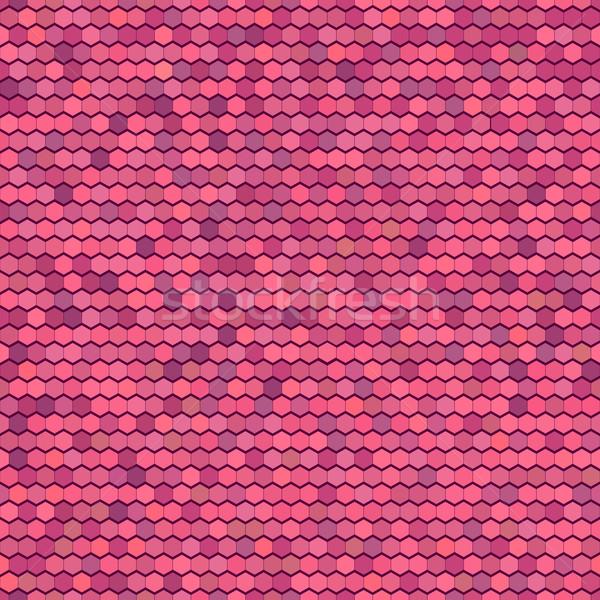 Abstract vettore colore pettine ornamento illustrazione Foto d'archivio © ESSL