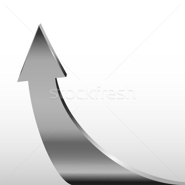 Silver arrow and white background Stock photo © ESSL
