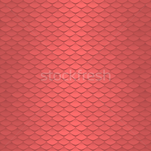 Seamless scale pattern  Abstract roof tiles vector