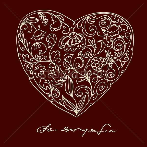 Valentine romantic floral heart Stock photo © ESSL