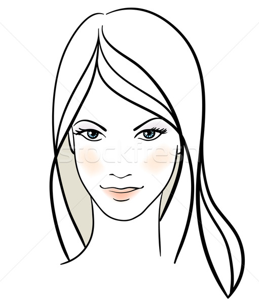 Stock photo: Beauty girl face