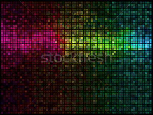 Stockfoto: Abstract · lichten · disco · vierkante · mozaiek
