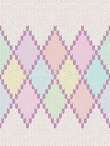 Seamless Pattern. Knit Woolen Baby Ornament Texture. Fabric Colo Stock photo © ESSL