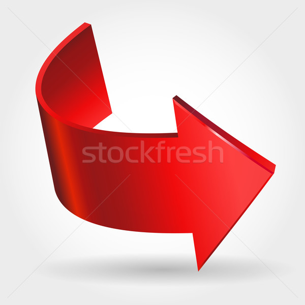Rouge flèche signe espace web site Photo stock © ESSL