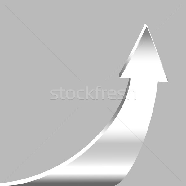 Silver arrow and neutral grey background Stock photo © ESSL