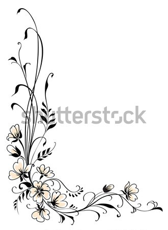Floral background pink flower vector Stock photo © ESSL