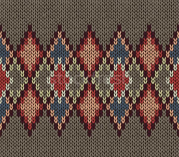 бесшовный трикотажный шаблон красный синий белый Сток-фото © ESSL