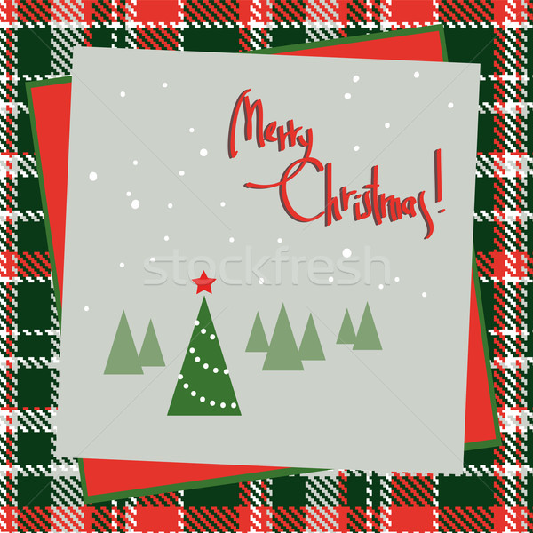 Stock photo: Christmas background with tree