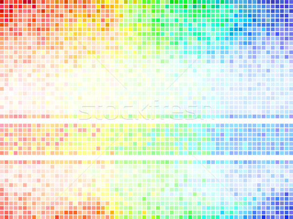 Multicolor abstract  tile background. Square pixel mosaic vector Stock photo © ESSL