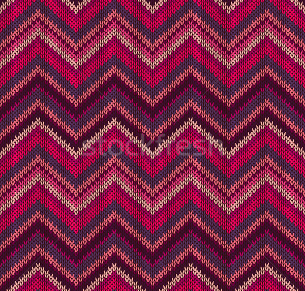 Red Pink Knit Texture , Beautiful Knitted Fabric Pattern Stock photo © ESSL