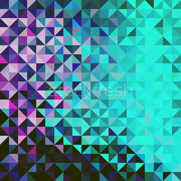 Résumé vecteur géométrique couleur mer technologie Photo stock © ESSL