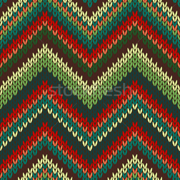 Stock fotó: Végtelenített · kötött · minta · stílus · divat · szín