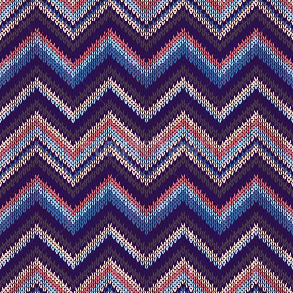 Sem costura étnico geométrico tricotado padrão estilo Foto stock © ESSL
