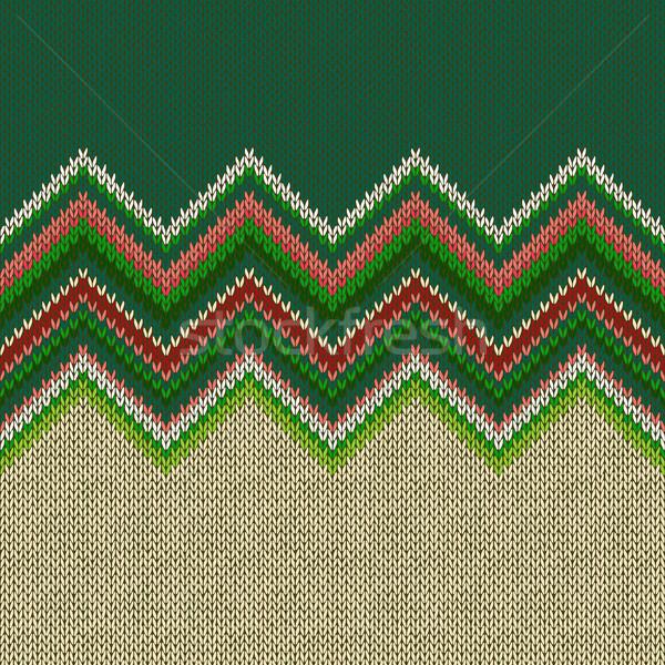 Ethniques géométrique tricoté modèle style Photo stock © ESSL