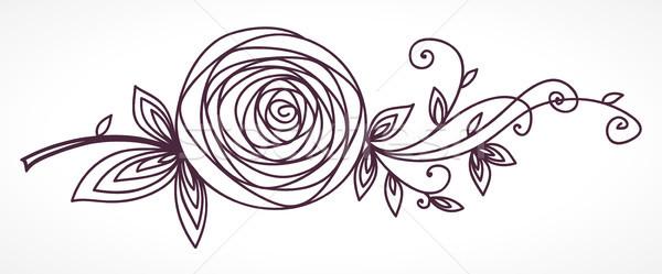 Rose stylisé fleur main dessin Photo stock © ESSL