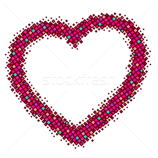 abstract red vector heart Stock photo © ESSL