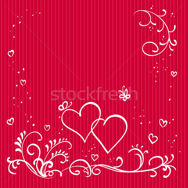 Red valentine background with hearts Stock photo © ESSL