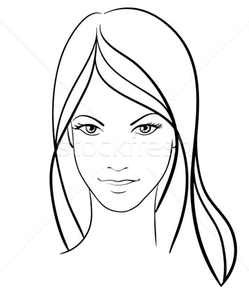 Belleza nina cara vector icono diseno Foto stock © ESSL