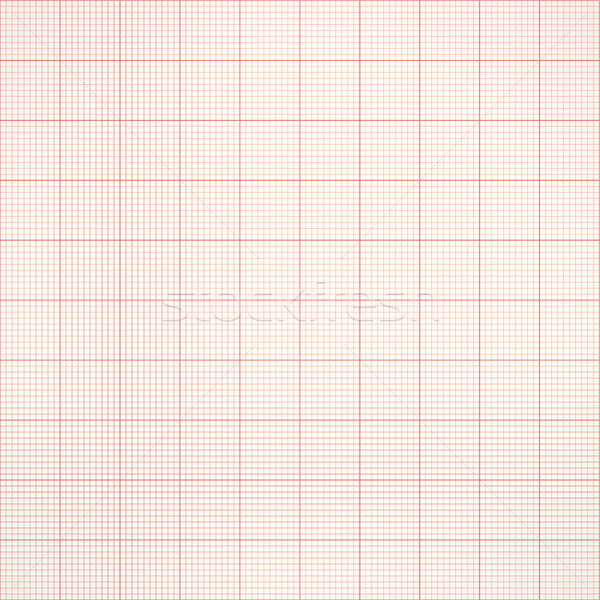 Graph seamless millimeter grid paper. Vector engineering background Stock photo © ESSL