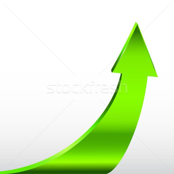 Vert flèche neutre blanche 3d illustration résumé Photo stock © ESSL