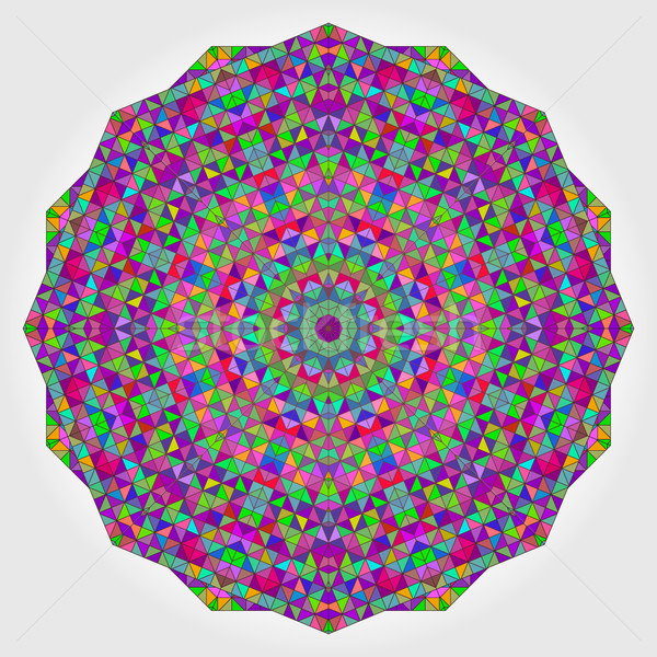 Colorful Circle Kaleidoscope Backdrop. Mosaic Abstract Flower Stock photo © ESSL
