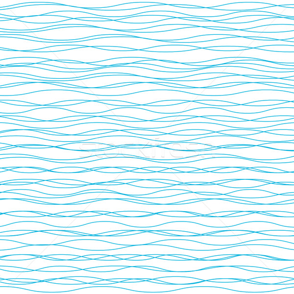 Wavy vector background. Light horizontal wave striped texture Stock photo © ESSL
