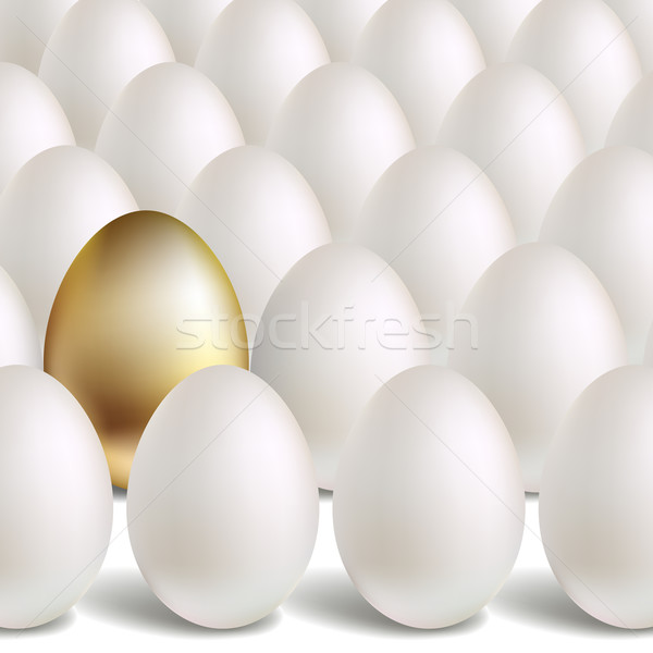 Gold Vector Egg Concept Stock photo © ESSL
