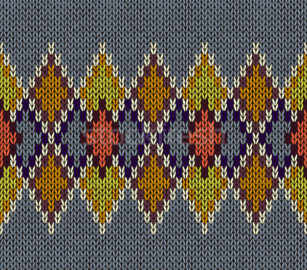 Senza soluzione di continuità maglia pattern rosso blu bianco Foto d'archivio © ESSL
