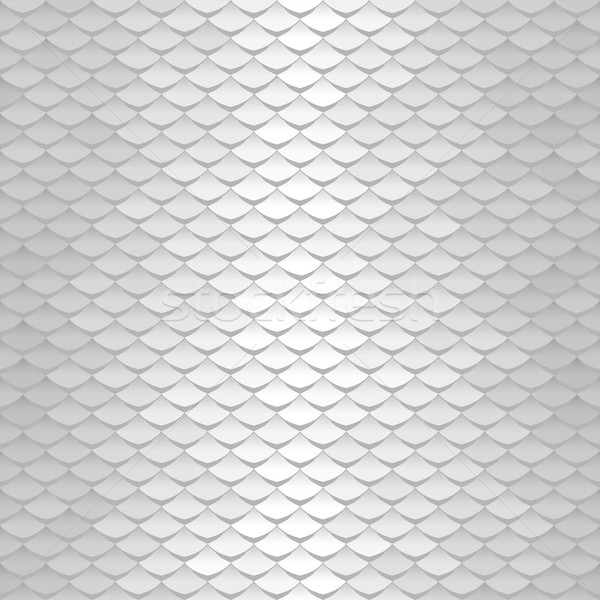 White texture. Abstract scale pattern. Roof tiles background. Stock photo © ESSL