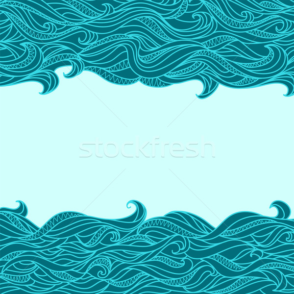 Abstract golven patroon vector hemel zee Stockfoto © ESSL