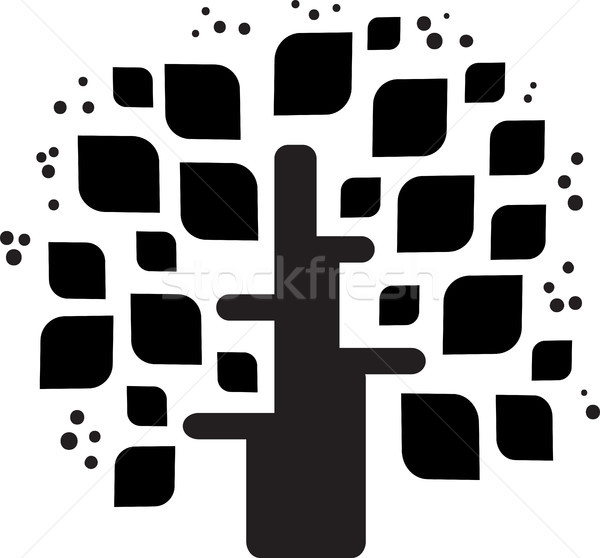 Stylized vector black tree  Stock photo © ESSL