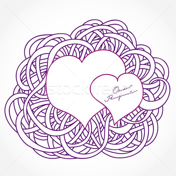 Foto stock: Valentine · quadros · decorativo · forma · corações · textura