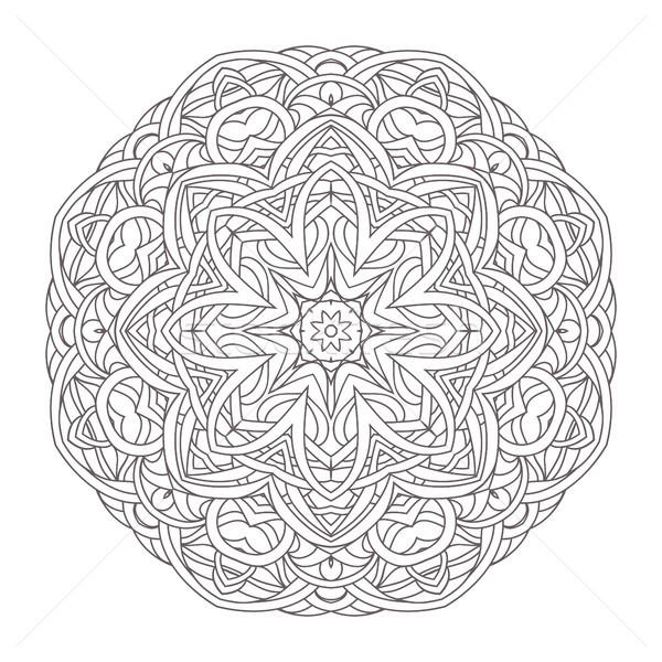 Mandala vintage dessinés à la main décoratif dentelle design Photo stock © ESSL