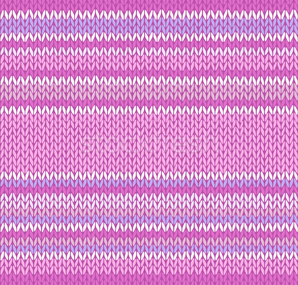 Seamless Pink Color Style Knitted Pattern Stock photo © ESSL