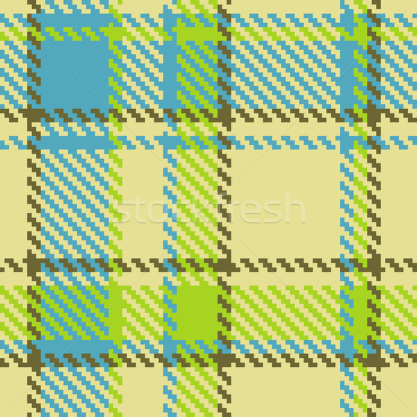 Naadloos groene Blauw bruin vector Stockfoto © ESSL