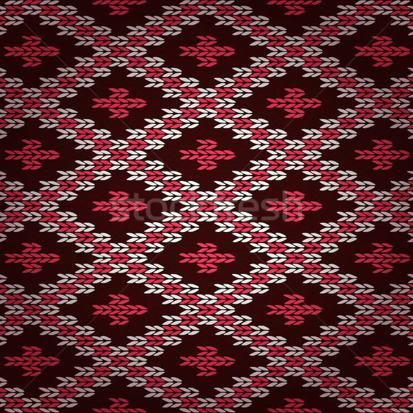 Rouge tricoté modèle texture design Photo stock © ESSL