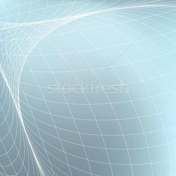 Abstract geometrica curve linee prospettiva moderno Foto d'archivio © ESSL