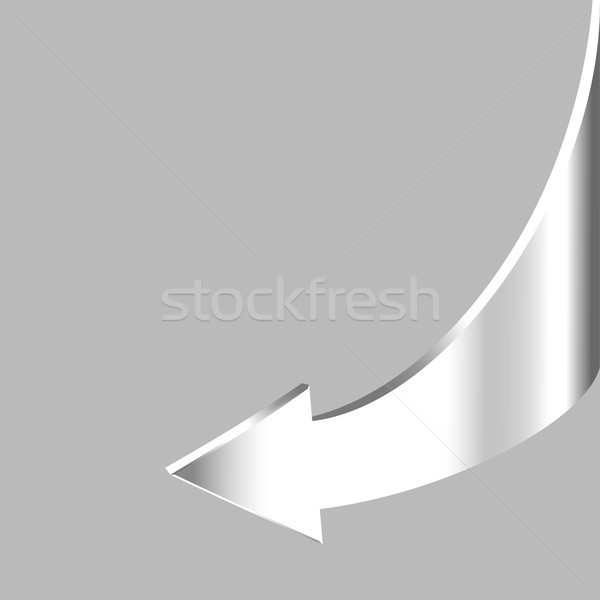 White brilliant arrow points backward and grey background Stock photo © ESSL