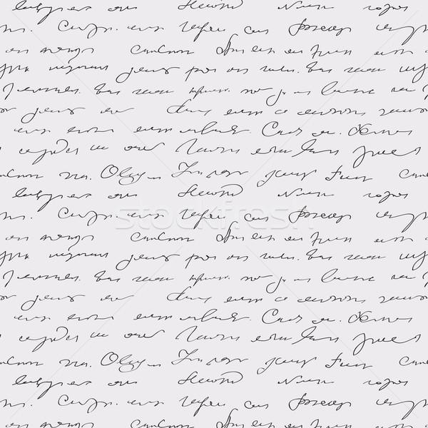 Seamless abstract handwritten text pattern  Stock photo © ESSL