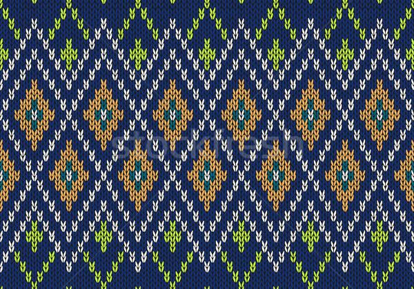 Puéril style tricoté vecteur Photo stock © ESSL
