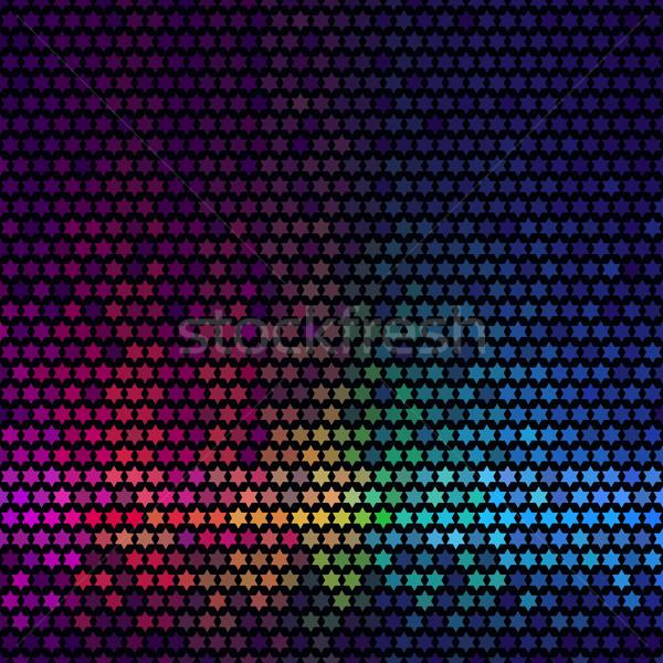 Soyut ışıklar disko star piksel mozaik Stok fotoğraf © ESSL