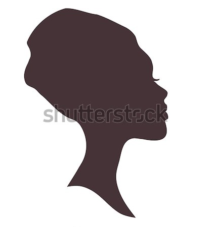 African woman face silhouette in national headdress Stock photo © ESSL